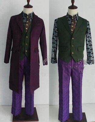 Dark Knight Heath Ledger Joker Cosplay Costume Hollween Costume Full set - Hollween Costum