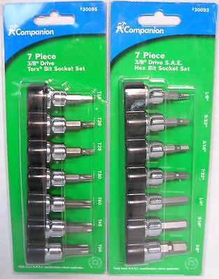 7 Pc 38 Drive S.a.e. Hex Bit 7 Pc 38 Drive Torx Bit Socket Set Tools B-13