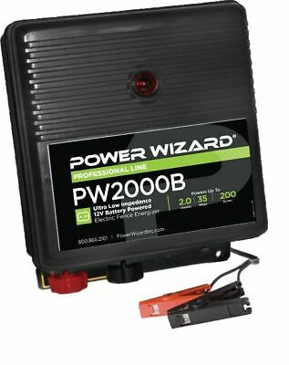 Agratronix 2.0 Joule - Ultra Low Impedance Battery Fence Energizer  Pw2000b