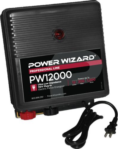 Power Wizard PW12000 Fence Energizer / 3 year manufacturer warranty