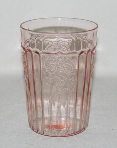 Hocking Glass MAYFAIR Open Rose Pink Flat Water Tumbler