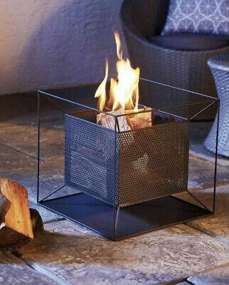 Gardenline Fire Pit Basket Patio Heater Log Wood Burner Black Next Day Delivery