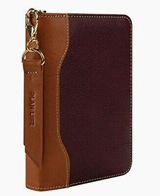 Franklin Covey Pocket Zipper Leather Binder Fig