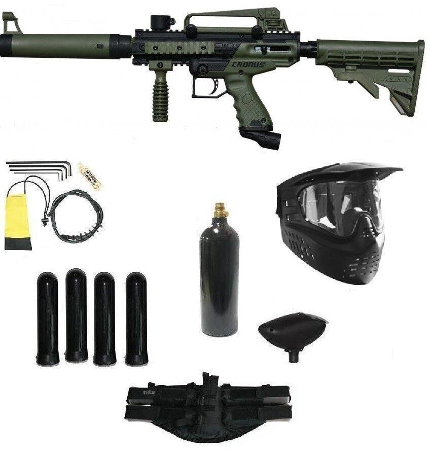 Tippmann Cronus Tactical Semi-Automatic 68 Caliber Olive Pai