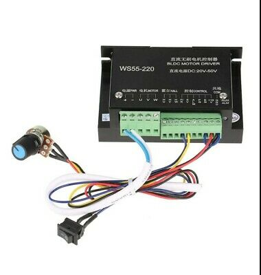 Ws55-220 Dc Motor Controller 48v 500w Bldc Dc Motor Controller Wired Brushless