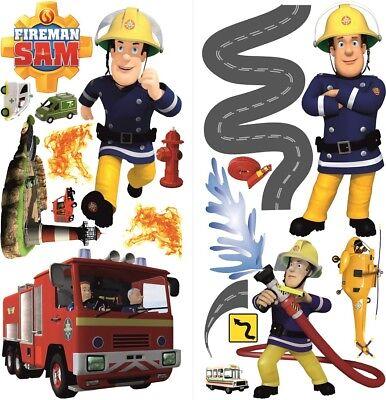 Feuerwehrmann Sam 3D Wandtattoo,Fireman Sam wall stickers Wandaufkleber 35X70x2 (Fireman Tattoo)