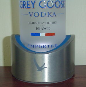 Grey Goose Vodka single bottle lighted display for 750ml bottle only - New