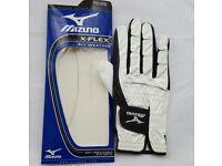 Mizuno X-Flex All Weather Leather Gloves Mens Right Hand White/Black Brand New