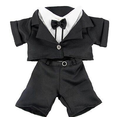 "Tuxedo Dinner Suit Wedding Groom outfit teddy clothes fits 15"" Build a Bear"