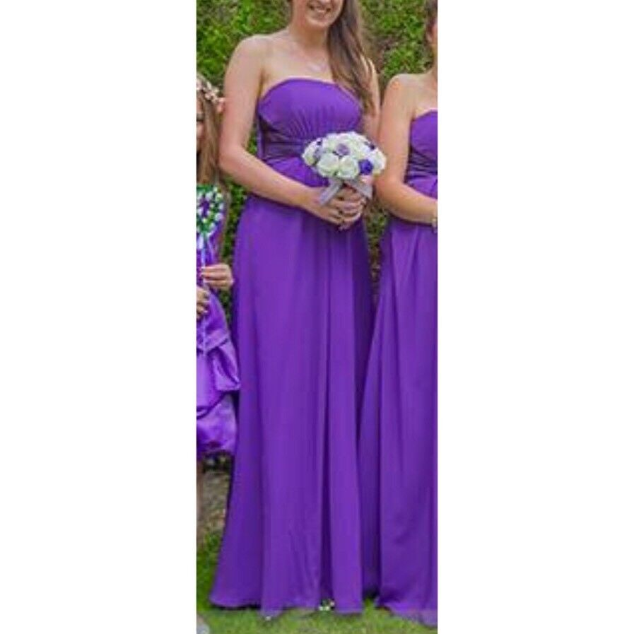 Purple prom, bridesmaid or ball dress size 8-10 | in Halton, West ...