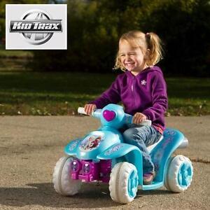 NEW KIDTRAX FROZEN 6V RIDE-ON TOY KidTrax Disney Frozen 6 Volt Powered KID'S MINI Quad RIDE ON 105937154