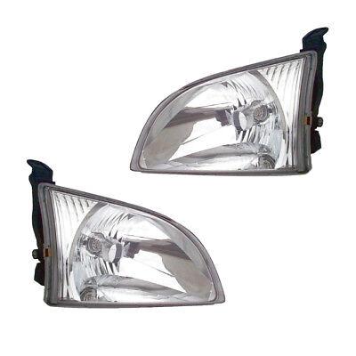 2001 2003 Toyota Sienna Driver  Passenger Headlights Lamps Assembly Pair Set
