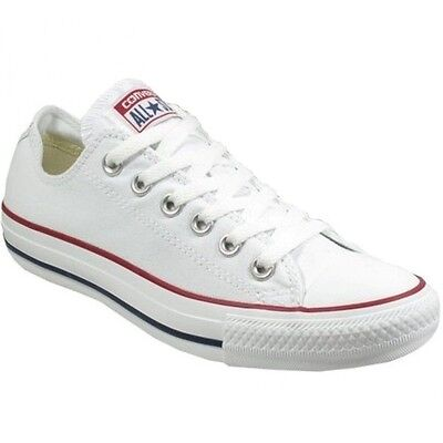 CONVERSE Unisex All Star Chuck Taylor White Canvas Athletic Sneakers Shoe M7652 - Retro Chuck Taylors