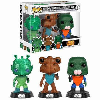 "Funko POP! Star Wars Cantina GREEDO / HAMMERHEAD / WALRUS MAN 3.75"" Bobble-heads"