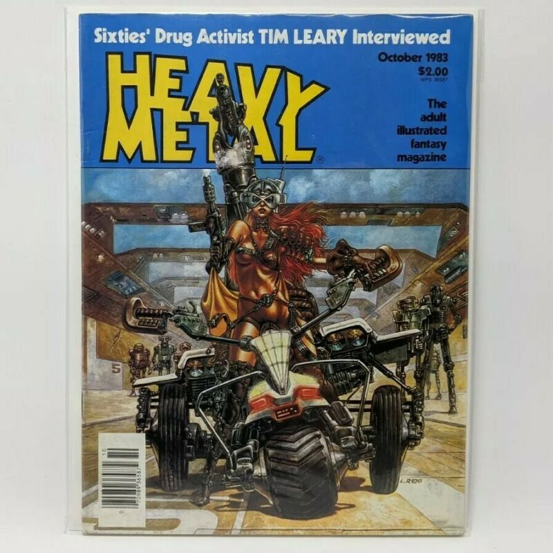 Heavy Metal Magazine (October 1983) Royo Cover & Jeff Jones Story Streets Fire