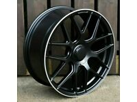 "Mercedes C Class E Class S Class x4 18"" E63 Amg Style Alloys Black Machined Lip"