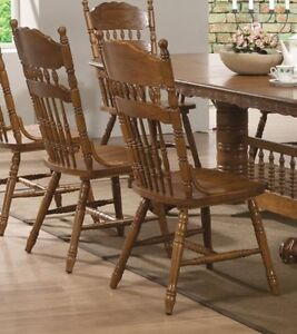 oak dining room chairs | ebay