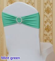 Green mint spandex chair sashes