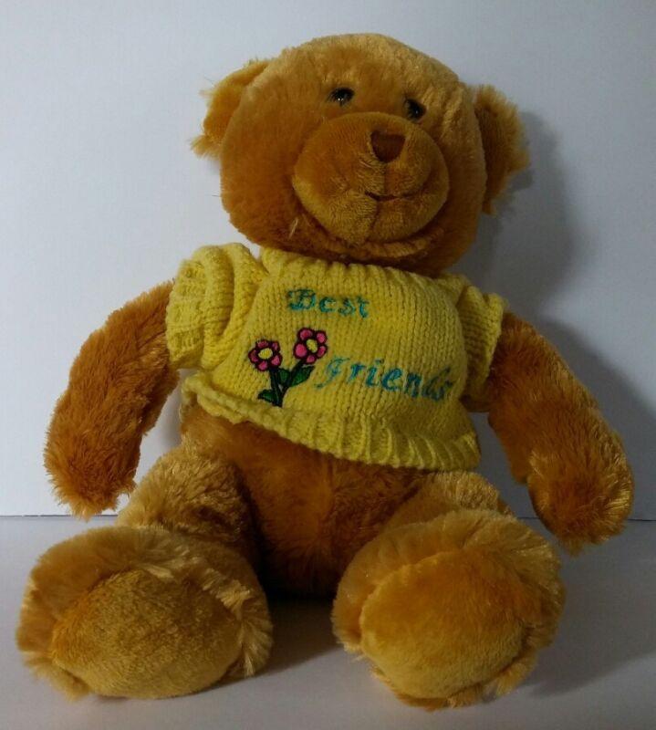 "Toys R Us Animal Alley A Fluffy Teddy Bear Best Friends Sweater 15"" Plush Toy"