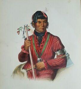 Plate-No-23-TSHI-ZUN-HAU-KAU-Octavo-McKenney-amp-Hall-History-of-Indian-Tribes