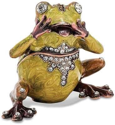 Bejeweled Frog - Bejeweled Oh My Frog Trinket Box
