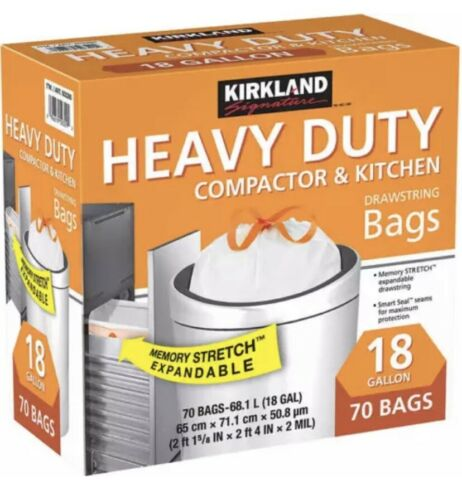 Kirkland Signature 18-Gallon Compactor and Kitchen Trash Bag