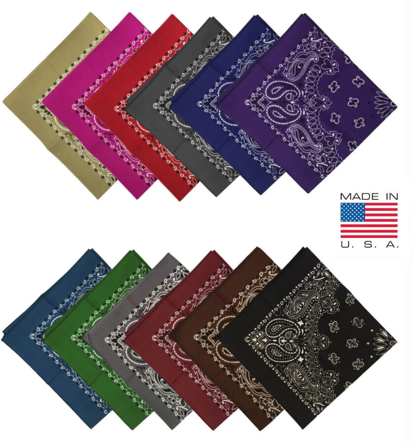 Hav A Hank Paisley Bandana MADE IN USA 100% COTTON