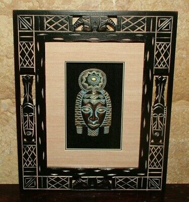 Painting Display Painting Africa Mask Design Fashion Chic Furniture Ethnic India