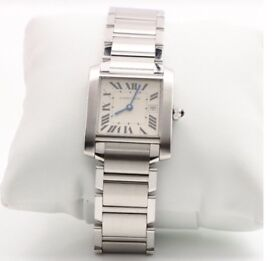AS NEW Genuine Boxed and Certificated Cartier Tank Francaise Medium Watch (RRP £3550)