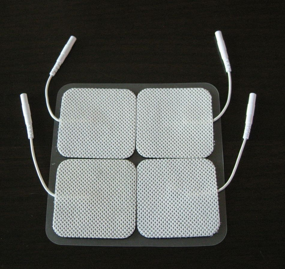 20 Electrode Pads EMS for Tens Massager 7000 3000 Units 2x2 Inch White Cloth