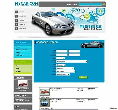 Auto Classified Ads Website Busines. Cars And Trucks. Classifieds Website Sale.