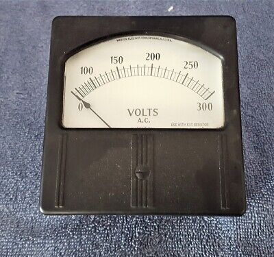 Vintage Nos 4 Weston Electrical Meter 0-300 V Ac 1