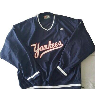 New York Yankees VTG Men's M Nike Team V Neck Pullover Windbreaker Jacket MLB