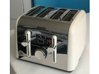 cream and stainless steel breville 4 slice electric toaster graded with 12 month warranty