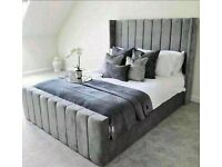New High Quality Grey Arizona Bedframe on Clearance Sale
