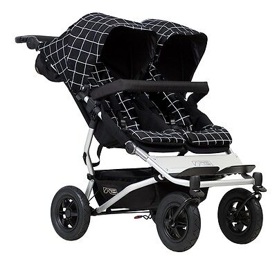 Mountain Buggy 2017 Evolution Duet Double Stroller - Grid -