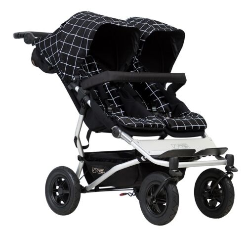 Mountain Buggy 2017 Evolution Duet Double Stroller - Grid - New! Free Shipping