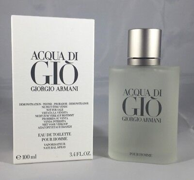 Acqua Aqua Di Gio By Giorgio Armani 3.4 Oz EDT Spray New In Box Cologne For Men