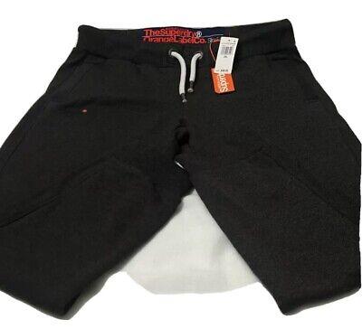 Superdry Mens  Sweatpants Logo Jogger Pants In Gray in 2XL (Slim Fit)
