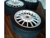 MINI ALLOYS - 17 INCH - WITH 4 GREAT TYRES
