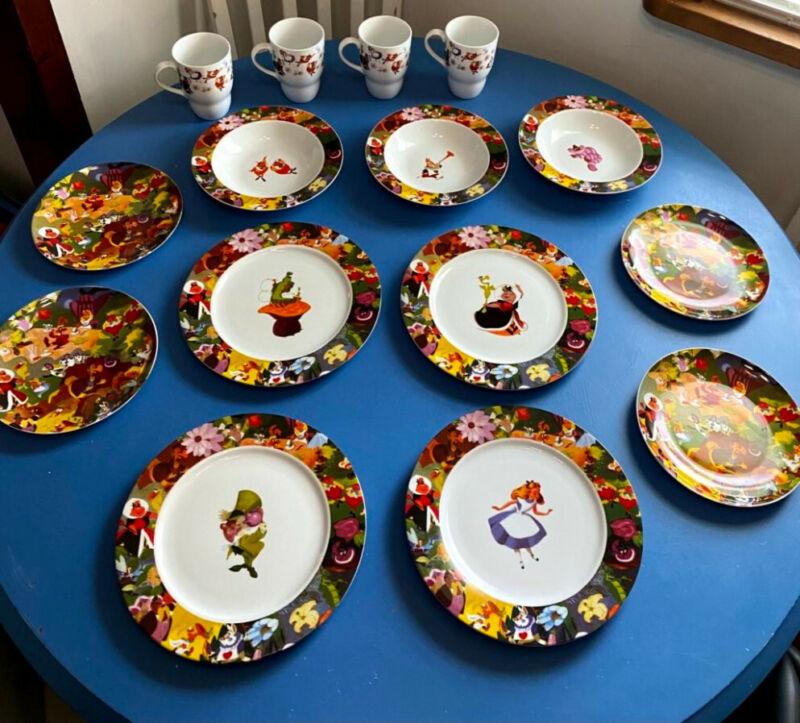 Disney Alice in Wonderland Porcelain Dinnerware Set Rare