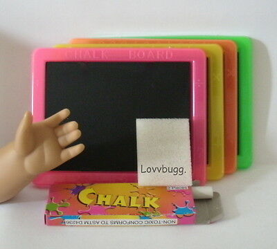 "Lovvbugg Slate Chalkboard for 18"" American Girl Doll School Accessory"