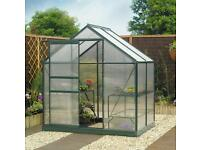 Greenhouse 6x4 frame and base.