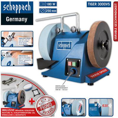 Scheppach Nass-Schleifsystem TIGER3000VS Promo Package + Vorrichtung 120