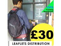 I'm LEAFLETS Distributor - £30 per 1000 leaflets - 07459494469 - GPS