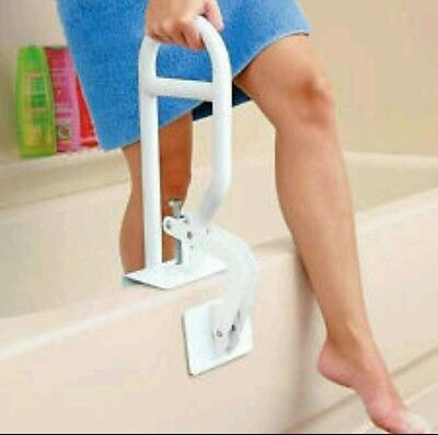 """Bath Safety Bar Bathtub Rail Grab Bath Shower Handle Tub 14"""" Adjust..NO BOX, NEW"""