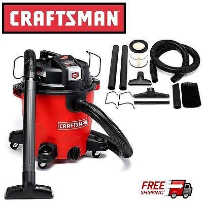 New Craftsman Xsp 16 Gallon 6 5 Peak Hp Wet Dry Vac Vacuum Shop Cleaner Blower