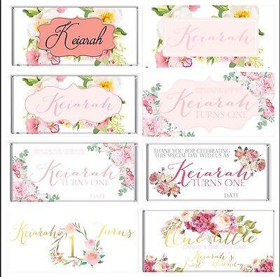 Boho Floral Theme Chocolate Wrappers Printable Digital - Print At Home ()