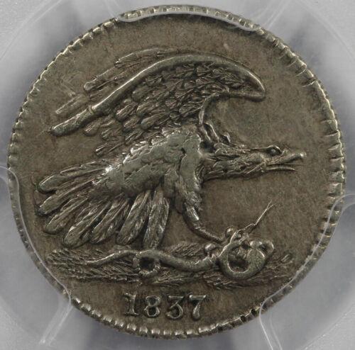 1837 1c Hard Times Token Feuchtwanger Cent PCGS XF 45