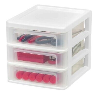 Compact Desktop 3-drawer System 2ct. Desktop Storage